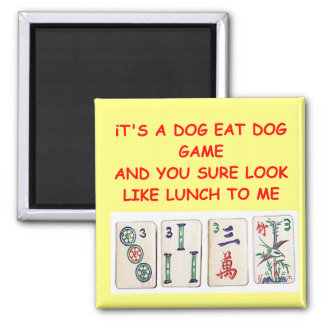 mahjong joke refrigerator magnet