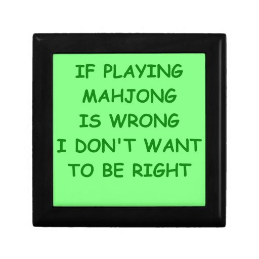 mahjong joyero cuadrado pequeño