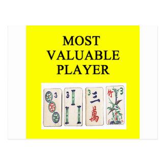 MAHJONG la mayoría del jugador valioso Tarjetas Postales