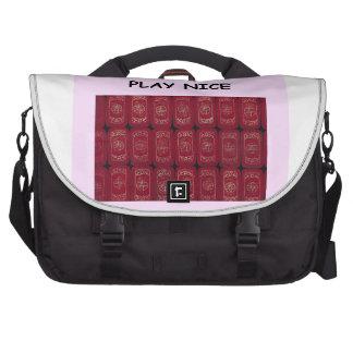 mahjong laptop messenger bag