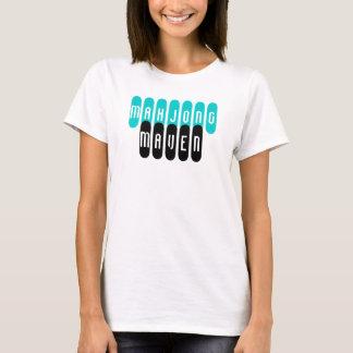 mahjong maven aqua black fashionable players shirt