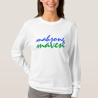 mahjong maven green blue fashionable players shirt