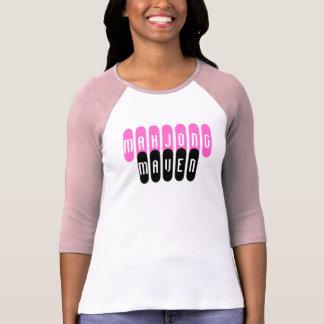 mahjong maven pink black fashionable players shirt