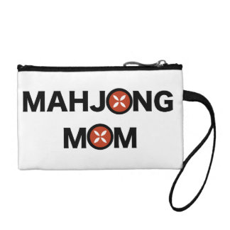 Mahjong Mom O Replaced with MJ Flower Design Change Purse