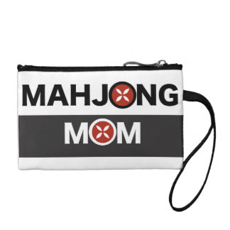 Mahjong Mom O Replaced with MJ Flower Design Coin Purse