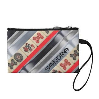 Mahjong monogrammed coin purse