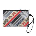 Mahjong monogrammed coin wallet