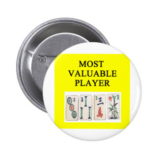 MAHJONG most valuable player Pinback Button