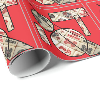 Mahjong pattern wrapping paper