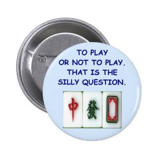 mahjong pinback button