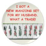 mahjong platos para fiestas
