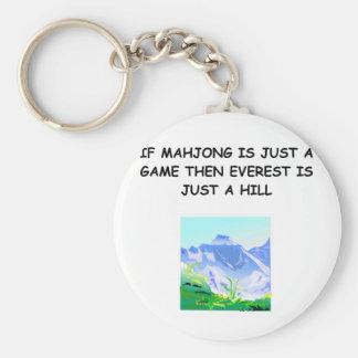MAHJOng player Basic Round Button Keychain