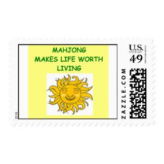 mahjong postage stamp