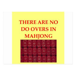 MAHJONG POST CARD