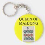 MAHJONG queen Basic Round Button Keychain