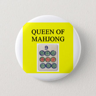 MAHJONG queen Pinback Button