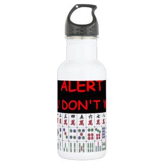 mahjong stainless steel water bottle