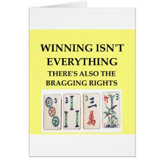 mahjong felicitación