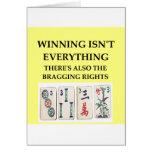 mahjong tarjeta de felicitación