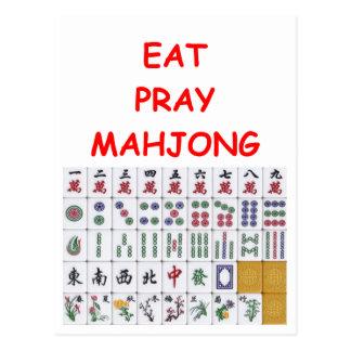 mahjong tarjeta postal