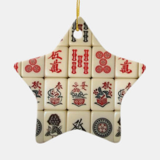 Mahjong tiles ceramic ornament
