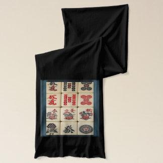 Mahjong tiles scarf