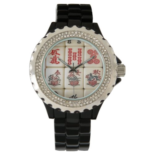 Mahjong tiles wrist watch