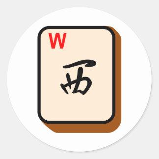 Mahjong West Classic Round Sticker