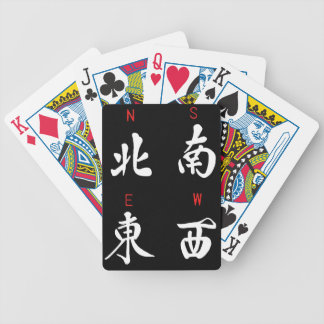 Mahjong Winds,Honor Suit,North,South,East,West (b) Bicycle Playing Cards