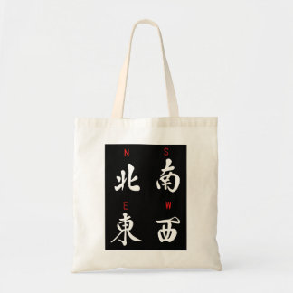 Mahjong Winds,Honor Suit,North,South,East,West (b) Budget Tote Bag