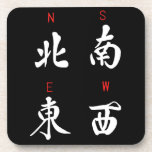Mahjong Winds,Honor Suit,North,South,East,West (b) Drink Coaster