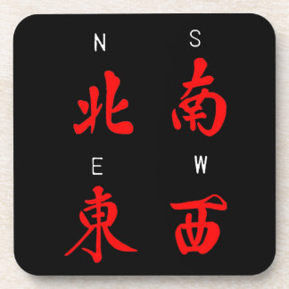 Mahjong Winds,Honor Suit,North,South,East,West (c) Beverage Coaster