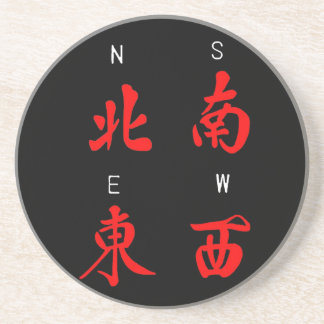 Mahjong Winds,Honor Suit,North,South,East,West (c) Coaster