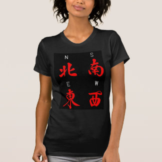 Mahjong Winds,Honor Suit,North,South,East,West (c) Tshirt