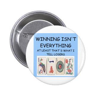 MAHJONG winner Pinback Button