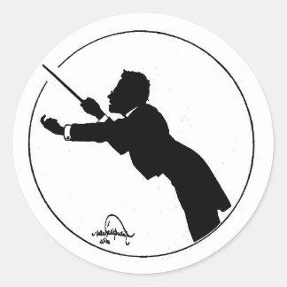 Mahler Conducting Classic Round Sticker