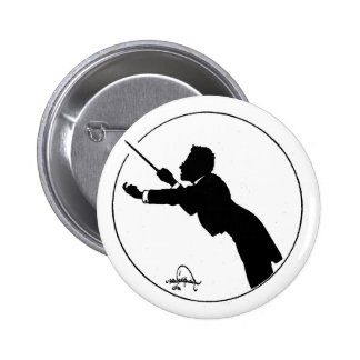 Mahler Conducting Pinback Button