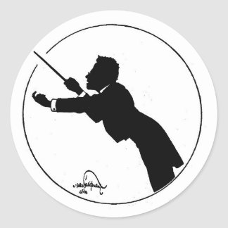 Mahler Conducting Classic Round Sticker