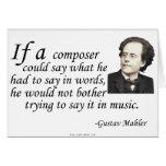 Mahler en componer tarjetas