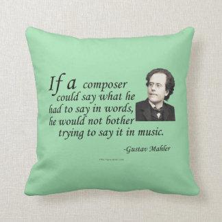 Mahler on Composing Throw Pillow