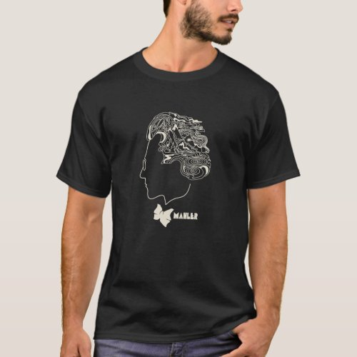 Mahler T_Shirt Psychedelic 60s Composer Hair