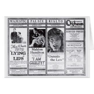 Mahlon Hamilton Priscilla Dean 1921 movie ad Card