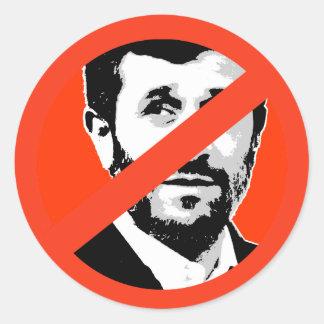 Mahmud Ahmadineyad Pegatinas Redondas