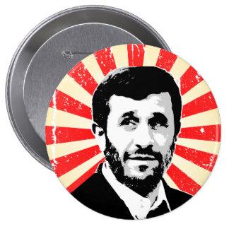 Mahmud Ahmadineyad Pin Redondo De 4 Pulgadas