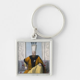 Mahmud I (1696-1754) Sultan 1730-54, from 'A Serie Silver-Colored Square Keychain