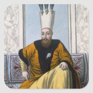 Mahmud I (1696-1754) Sultan 1730-54, from 'A Serie Square Sticker