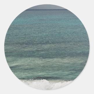 Maho Bay in Mexico Round Sticker
