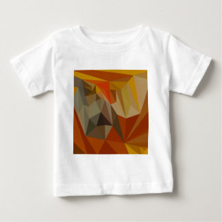 Mahogany Brown Abstract Low Polygon Background Baby T-Shirt
