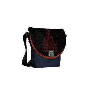 Mahogany Buddha Pixel Art Courier Bags