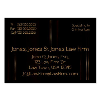 Mahogany Large Business Cards (Pack Of 100)
